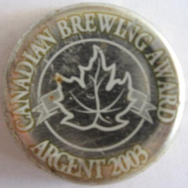 Canadian Brewing Award Argent 2003